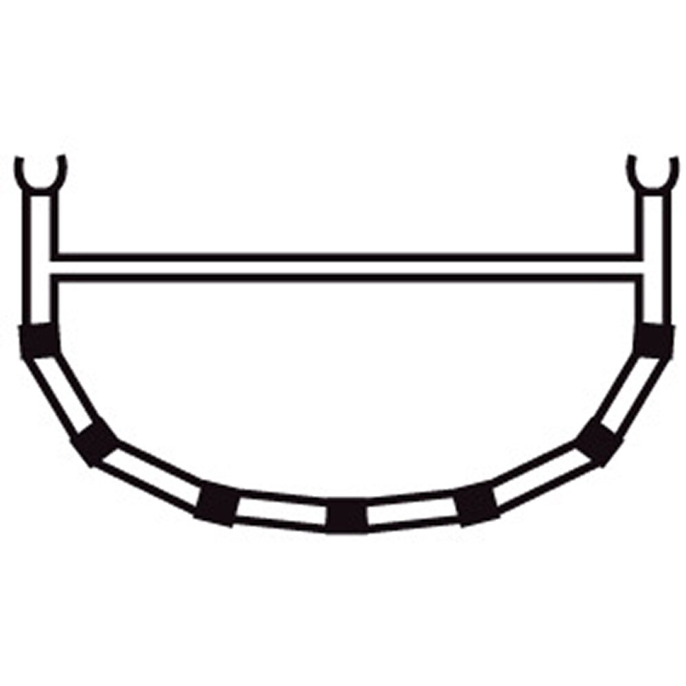 4-Cross Rib w/Top Bar 15/16,5/18