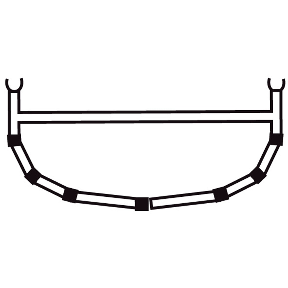 5-Cross Rib w/Top Bar 15/16,5/18