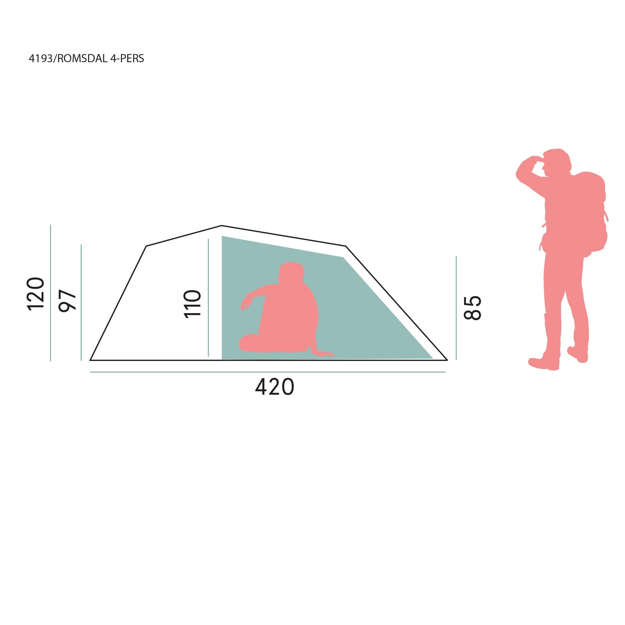 Romsdal 4-Person Tent